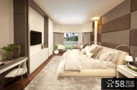 现代美式风格装修 卧室背景墙效果图
