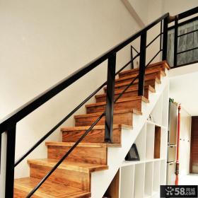 北欧40平米一居室复式楼梯装修设计