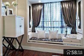 欧式家居卧室飘窗装修设计