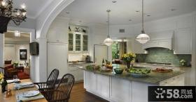 北欧复式楼厨房装修效果图大全2014图片