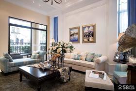 地中海风格别墅装修客厅图片2014