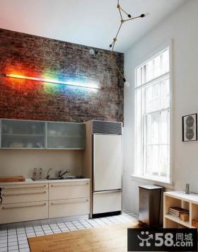 彩虹色复式楼厨房装修效果图大全2012图片