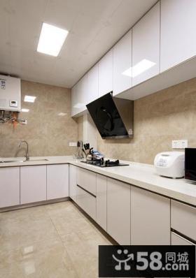 小厨房烤漆橱柜图片