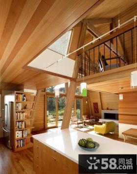 美式别墅带阳台厨房装修效果图