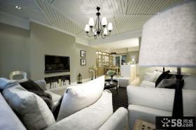现代风格客厅电视背景墙样板房设计