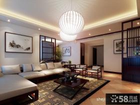 中式客厅吊顶装修效果图大全2013图片