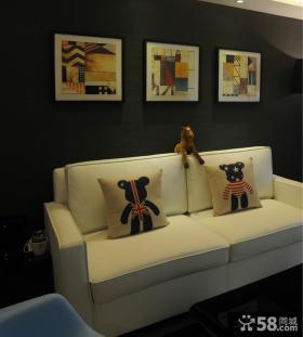 现代时尚风格客厅装饰画效果图