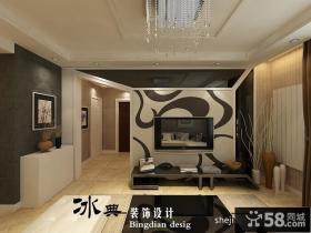 客厅电视背景墙装饰效果图