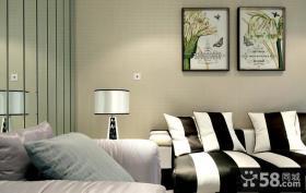 现代沙发背景墙装饰画图片