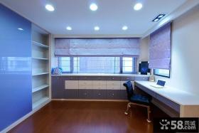简约复式室内书房设计装修图片