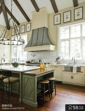 欧式风格厨房吧台设计效果图片欣赏