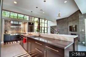 开放式厨房集成吊顶装修效果图