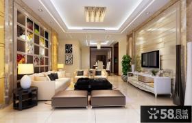 29万打造兰亭国际中式风格客厅电视背景墙装修效果图大全2014图片