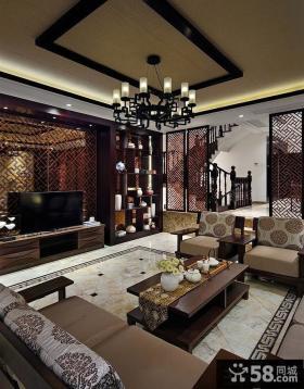 中式别墅客厅精装图片欣赏