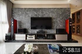 现代设计客厅电视背景墙效果图2014