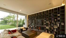 现代别墅客厅电视背景墙效果图大全