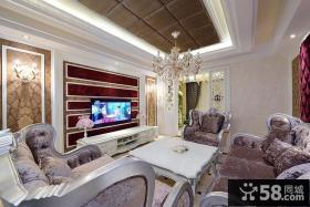 奢华贵气欧式客厅布置装饰