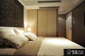 现代卧室床头背景墙设计效果图