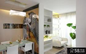 现代风格餐厅客厅隔断装修效果图