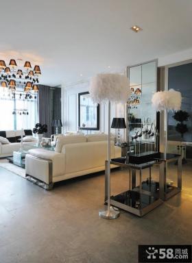 欧式风格简约客厅装修效果图片