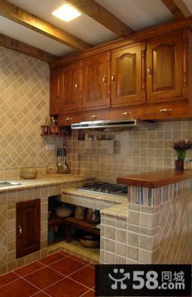 美式乡村风格小厨房装修