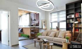 90平米简约二室一厅室内设计效果图