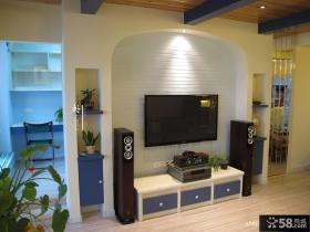 80平米小户型客厅电视柜背景墙装修效果图