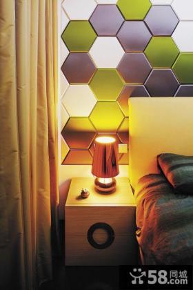 简约家庭设计卧室床头灯具图片