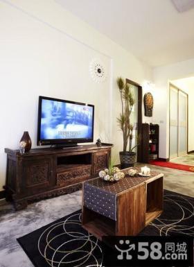 美式乡村风格客厅电视背景墙