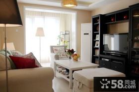 小户型温馨的客厅电视背景墙装修效果图大全2012