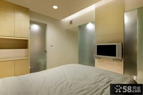 简约卧室电视背景墙设计