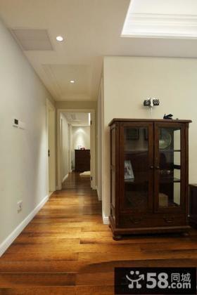 美式家居客厅过道吊顶装修图片