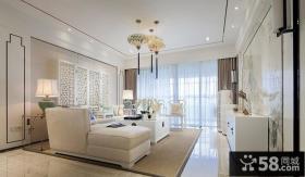 中式简约风格四居室设计家装效果图
