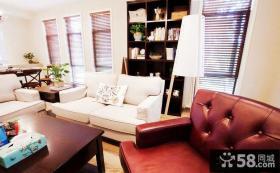 美式客厅家具摆放效果图