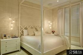 白色简欧式卧室灯具图片