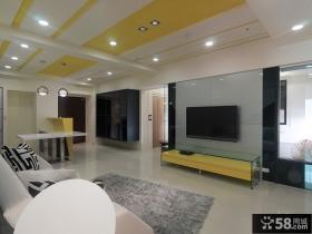 家居简约设计客厅电视背景墙图欣赏