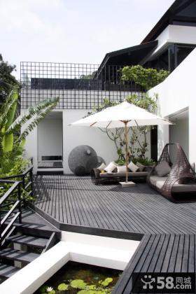 世界豪华的别墅阳台图片