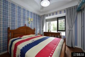 美式乡村风格家居卧室装修效果图