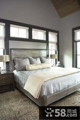 三室两厅灰色调卧室阁楼装修效果图大全2014图片