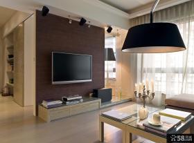 现代客厅影视墙装修效果图