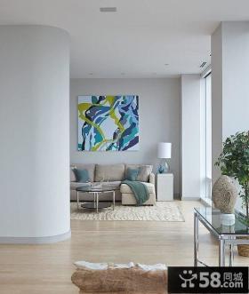 简约奢华的纽约复式客厅设计