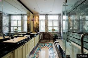 欧式风格高档别墅卫生间装修设计