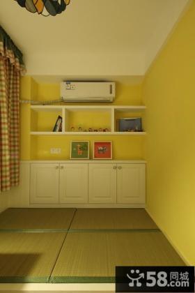 美式现代复式家居榻榻米设计效果图