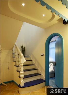 迷人温馨地中海家居楼梯设计