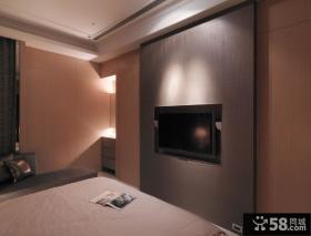 家庭装修卧室电视背景墙设计图片