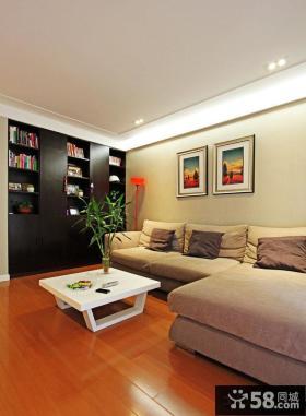 日式简约风格三室一厅客厅装修图