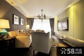 现代风格客厅电视背景墙设计图欣赏