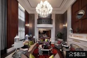 欧式风格别墅软装饰客厅效果图