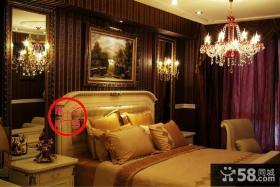 欧式风格卧室床头挂画墙壁纸图片