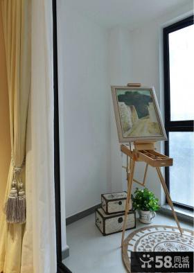 阳台家具花架摆放图片
